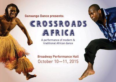 Gansango Event Flyer - Crossroads Africa